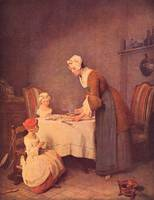 The Table Prayer by Jean Chardin