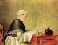 Tea Drinker by Jean Chardin