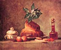 Still Life with Brioche by Jean Chardin