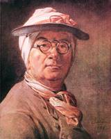 Self-Portrait with Glasses by Jean Chardin