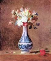 Flowers in a Vase by Jean Chardin