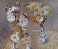 Caillebotte Four Vases of Chrysanthemums