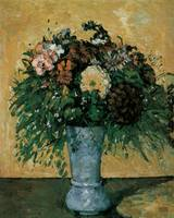 Cezanne Flowers in a Blue Vase