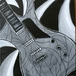 """Black & White guitar"" by bellaitalia"
