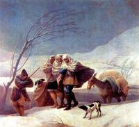 The Snowstorm by Francisco Goya