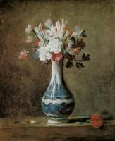 Chardin Flowers in a blue vase
