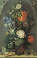 Savery Flowers in a Glass Vase