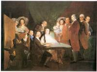 La famille de l'infant Don Louis by Francisco Goya
