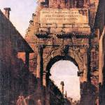 """Titus Arch in Rome by Canaletto"" by ArtLoversOnline"