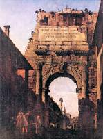 Titus Arch in Rome by Canaletto