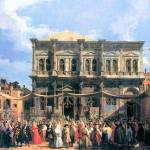 """The Festival Rochus by Canaletto"" by ArtLoversOnline"
