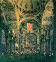 San Marco, Inside View by Canaletto