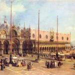 """La Piazza San Marco by Canaletto"" by ArtLoversOnline"