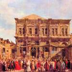 """Festival in San Rocco by Canaletto"" by ArtLoversOnline"