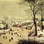 """Winter Landscape with Skaters by Pieter Bruegel"" by ArtLoversOnline"