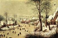 Winter Landscape with Skaters by Pieter Bruegel