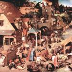 """The Dutch Proverbs by Pieter Bruegel"" by ArtLoversOnline"