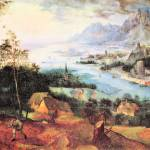 """River Landscape with a Sower by Pieter Bruegel"" by ArtLoversOnline"