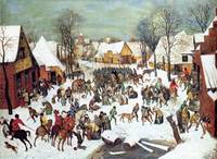 Winter Scene by Pieter Bruegel