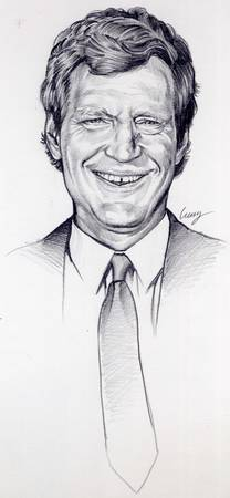 David Letterman portrait