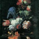Verelst Opium Poppy and Other Flowers in a Vase by Leo KL