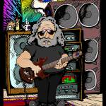 """Jerry Garcia Cartoon"" by netbrands"