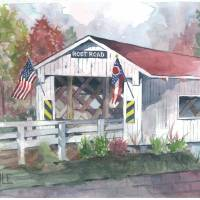 Root Road Covered Bridge Art Prints & Posters by Richard Doyle
