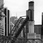 """""""Kinzie Street bridge in Chicago"""" by SecondCityImage"""