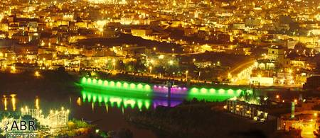 The city of Abha night dam water