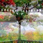 """Rainy Fall Day /  Inside the Gazebo"" by RickTodaro"