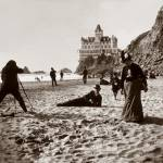 """Ocean Beach by Cliff House c1900"" by worldwidearchive"