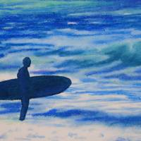 Waiting on the Waves Art Prints & Posters by Sarah John Afana