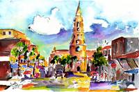 Charleston North Market Street & Church by Ginette