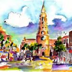 """Charleston North Market Street & Church Painting"" by GinetteCallaway"