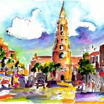 """Charleston North Market Street & Church Painting"" by GinetteCallaway"