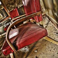Abandoned Motel Room Chairs