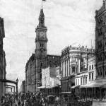"""HM455 ElizabethSt.  Melbourne circa 1888"" by nevilleprosser"