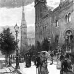 """HM0457  Collins St. Melboune circa 1888"" by nevilleprosser"