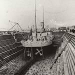 """HW135 HMVS Cerbrus in the Alfred Graving Dock"" by nevilleprosser"