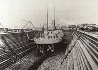 HW135 HMVS Cerbrus in the Alfred Graving Dock