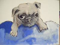 Baby Pug 8x10 original pet portrait