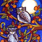 """Owls In Moonlight"" by reniebritenbucher"