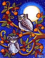 Owls In Moonlight