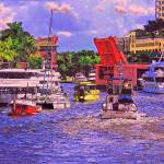"""Boats On The River, Fort Lauderdale, Florida"" by Eduardo828"