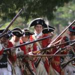 """Red Coats at the Battle of Great Bridge"" by nancielaing"