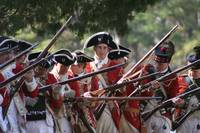Red Coats at the Battle of Great Bridge