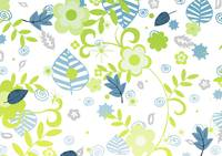 Green and blue floral