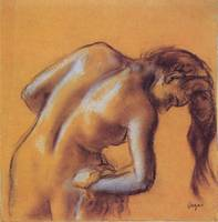 Edgar Degas Bather Drying Herself