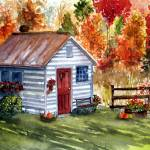 """cottage"" by TammyBurkeART"