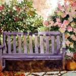 """Bench at Meijer Gardens 001 copy"" by TammyBurkeART"